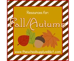 The mega site for fall resources!  <3 School Supply Addict!