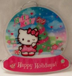 Hello Kitty Happy Holidays! 3D Lenticular Christmas Ornament New $9.99