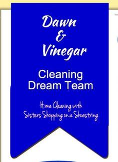 Dawn and Vinegar Cleaning Dream Team