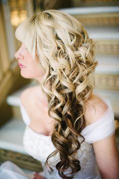 side curl, color, hair beauti, swept curl, wedding side swept hair, wedding hairstyles, beauti curl, hair idea, wedding day hair
