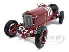 1924 Mercedes Targa Florio 10 Diecast Car Model 1/18 Burgundy Die Cast Car By Cmc