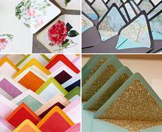 Envelope liner ideas