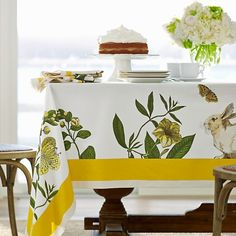 EasterTablecloth | @Williams-Sonoma