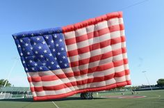 World's largest free-flying flag over New Jersey