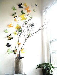 DIY- 3D Butterfly Wall Art