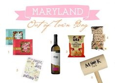 Maryland Wedding Out of Town Bag Ideas