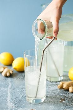 A refreshing twist on classic homemade lemonade, with a hint of spicy ginger!