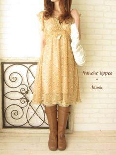 franche lippee*black ふさふさネコ*カシュクールO/P(全2色)