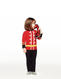 Stella McCartney Kids winter 2012 the Band jacket as a sweater, pillarbox red version for toddlers