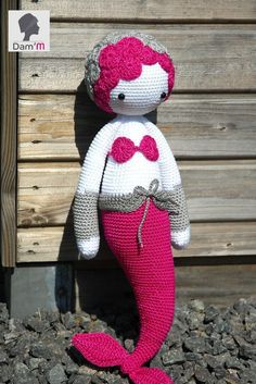 MICI the mermaid made by bygalexia / crochet pattern by lalylala