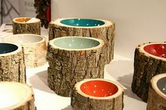 More ideas for tree stumps. Love this!