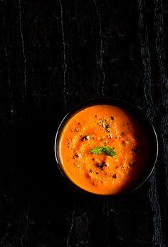 Easy Roasted Tomato Soup by vegrecipesofindia #Soup #Roasted_Tomato #Easy