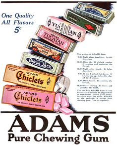 Adams Chewing Gum 1920s