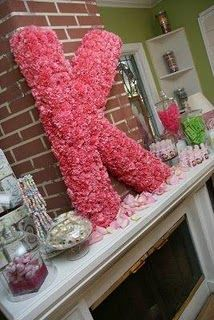 Carnation letters for decoration