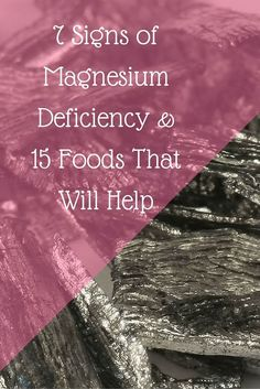 7 Signs of Magnesium