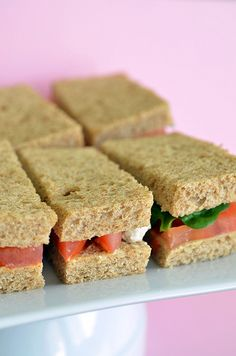 great finger sandwiches and all together great post!