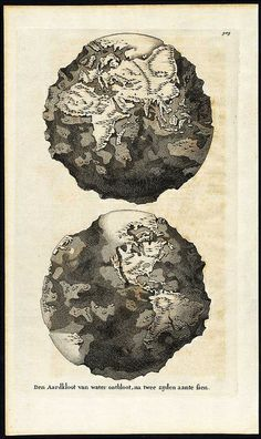 World without water.  Den Aardkloot, 1690