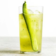 Floral, fizzy, and totally on trend, this cucumber gin and tonic is the perfect party drink for St. Patrick's Day: http://www.bhg.com/holidays/st-patricks-day/recipes/green-drinks-for-st--patrick-s-day/?socsrc030114cucumberginandtonic&page=2