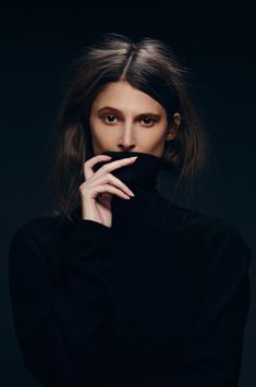 black wall. tomboy. tonal. product. portrait.