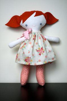 Edith doll- red hair, blue eyes