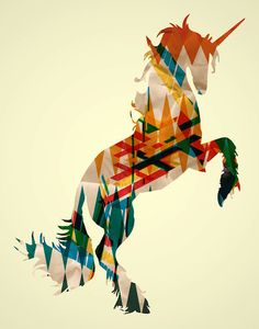 Unicorn PRINT by MakeMeSomeArtShop on Etsy, $15.00