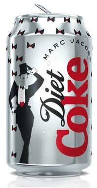 the new Marc Jacobs Diet Coke cans are here! Yes we now have seen everything! #designer #dietcoke
