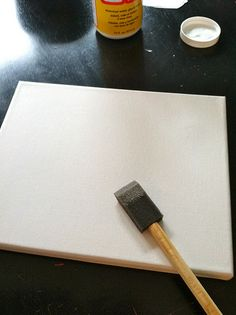 Photo  Canvas -   1. Print picture from ink jet printer to tissue paper.    2. Using a foam brush, paint a light coat of Mod Podge onto the canvas.  3. Lay tissue paper over canvas and push out bubbles.  4. Trim edges of paper - let dry  5.Gently add a light layer of mod podge on top - dry, done!