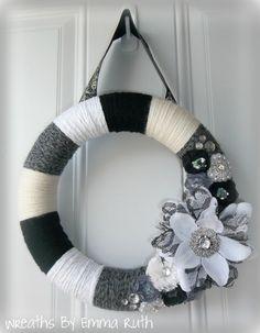 Elegant Yarn Wreath