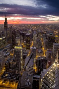 Chicago Sunset from Aeon Center by Chris Peak on 500px