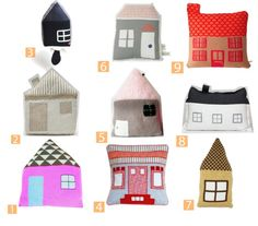 house shaped pillows.