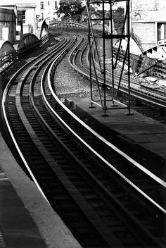 Train tracks in France.