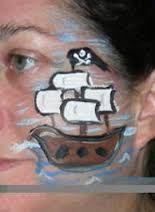 pirate cheek art
