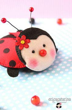 *FELT ART ~ Dona Joaninha by Ei menina! - Érica Catarina, via Flickr