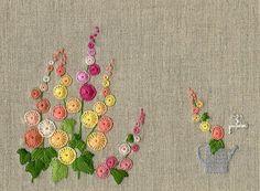 Buttonhole stitch flowers