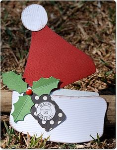 Santa hat gift card holder.