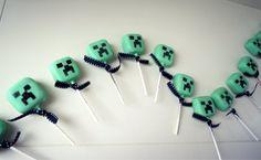 minecraft creeper cake pops
