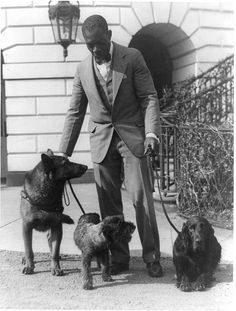 Robert R. Robinson, kennel master at the White House for Herbert Hoover's dogs 1929