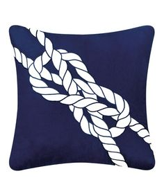 Love this Navy & White Knot Pillow on #zulily! #zulilyfinds