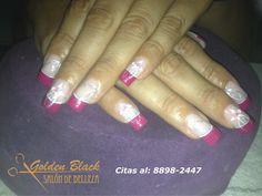 #maquillaje de #nails #encapsuladas diseño @goldenblackcr