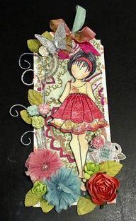 prima mixed media dolls | Prima doll stamps