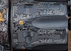 """An exhibition Master Engraved firearm by Bill Gamradt the Great American Western Plains Wildlife """"Oklahoma Sunset"""" is a tribute to the wildlife that call the Great Plains of America their home. He has engraved the show gun with a very unique and different engraving pattern - American Victorian Leaf."""