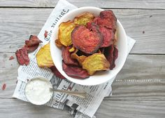 The Urban Poser:: Street Food: Beet Chips With Cashew Tzatziki