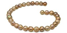 """Kasumi-Like """"Ripple"""" Freshwater Pearl Necklace: 12- 14.5mm"""