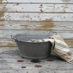 Vintage French country zinc basin