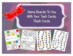 Game Boards to Use With Your Task Cards, Flash Cards from Math-Games on TeachersNotebook.com -  (8 pages)  - Use these game boards with your flash cards, task cards to create a challenge to learning.
