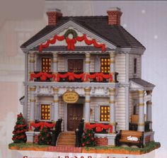 Christmas village lighted houses painted ceramic christmas house