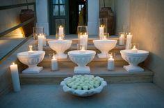 Candles for Wedding Reception | Stella and Moscha - Exclusive Greek Island Weddings | Photo Ippokratis Alexiou