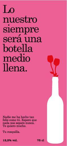 Diselo con vino. Etiqueta Romantica 1.