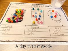 A day in first grade: states of matter