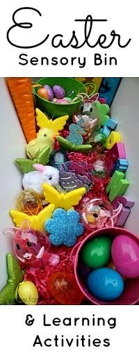 holiday, sensori bin, idea, easter sensori, sensory bins, bin learn, learning activities, learn activities2, preschool